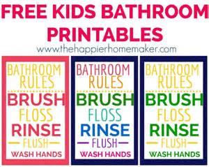 free kids bathroom printables printable 2018 monthly calendar modern floral themed