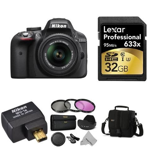 Wifi Nikon D3300 nikon d3300 wi fi bundle with 18 55mm vr ii zoom lens black accessories including wi fi