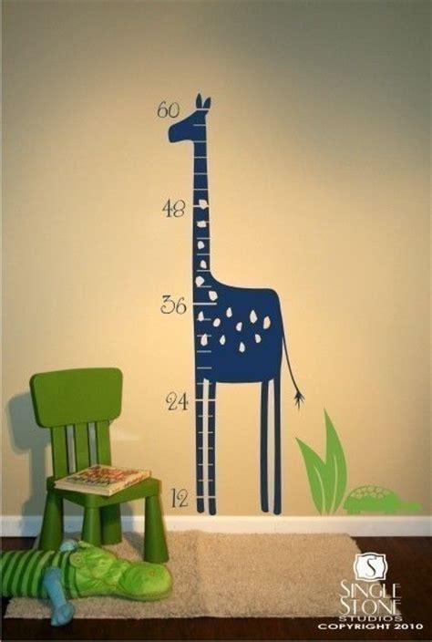 Giraffe Wall Decals For Nursery Giraffe Growth Chart Wall Decal Nursery Vinyl Sticker Vinyls Boys And Giraffe Nursery
