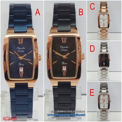 Jam Tangan Guess 2455 jam tangan original alexandre christie ac2455 persegi rantai