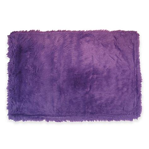 purple flokati rug rugs flokati rug in purple bed bath beyond