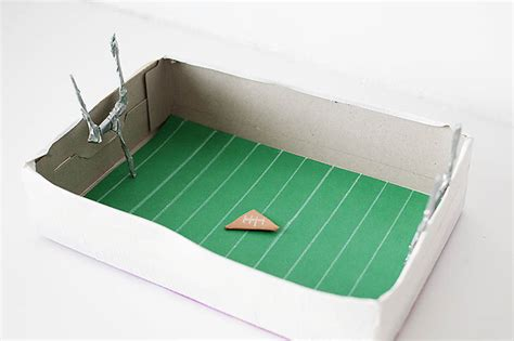 How To Make A Paper Field Goal - diy cereal box paper football arena 183 kix cereal
