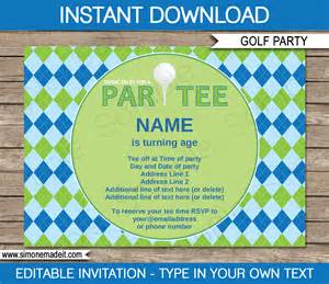 Golf Party Decorations Golf Party Invitations Template Golf Birthday Party