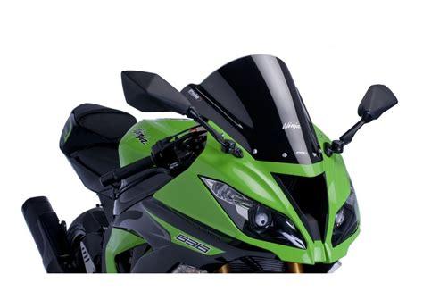 Windshield Puig Kawasaki Er6 N puig racing windscreen kawasaki zx6r zx636 zx10r revzilla