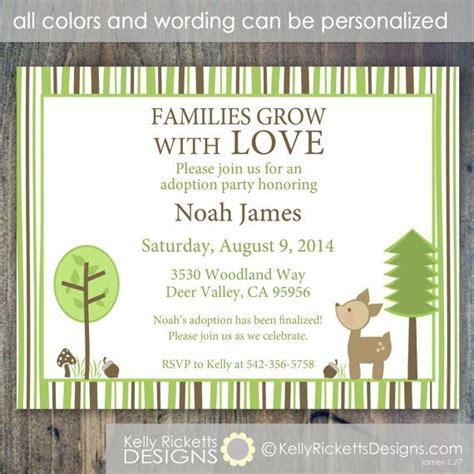 baby shower for adoptive parents woodland deer adoption or adoption shower invitation