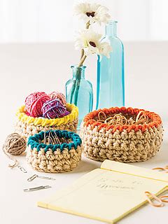 Saver Yarn Warna Real Teal 656 ravelry mini basket trio pattern by tara cousins