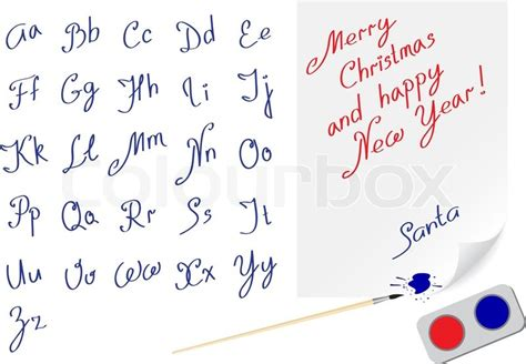 alphabet hand written font  writing    text stock vector colourbox