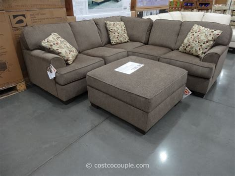 sectional and ottoman berkline jaxelle fabric sectional and ottoman