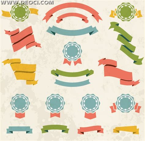 label design cdr free download retro ribbon label vector design material deoci com
