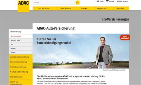 Adac Kfz Versicherung Zweitwagen by Adac Autoversicherung Test Der Gro 223 E Testbericht 2018