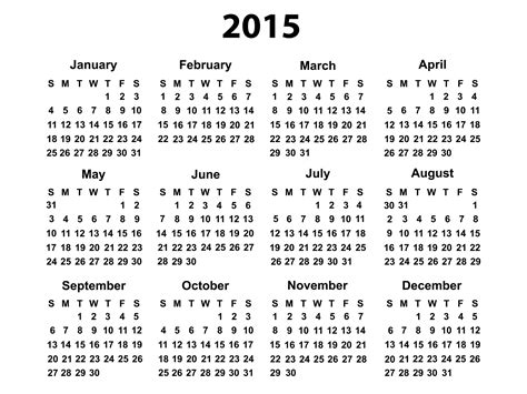 2015 Printable Calendars 2015 Calendar Printable Free Large Images