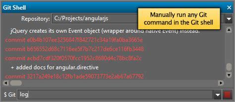 tutorial git shell uestudio git editor
