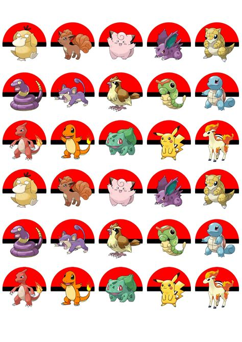 pokemon edible cupcake toppers pack