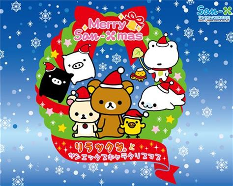 wallpaper christmas sanrio kawaii christmas wallpaper with all sanrio characters