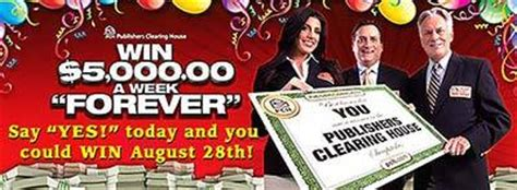 Who Won Publishers Clearing House August 2017 - pch com 5 000 a week for life sweepstakes