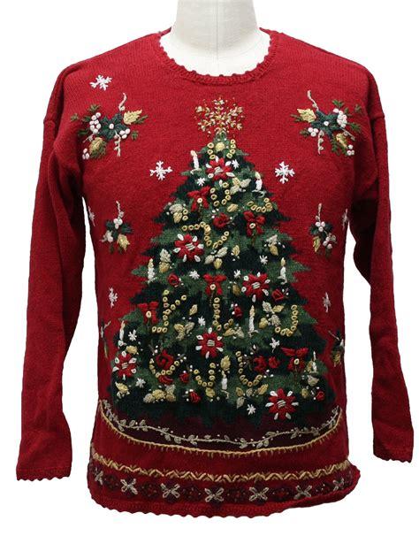 ugly christmas sweater carolina colours unisex red