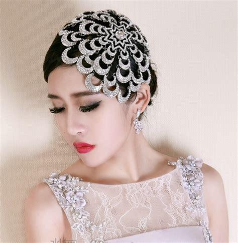 rhinestone hair buy wholesale wedding exaggerated headdress jewelry cobweb bridal headband rhinestone