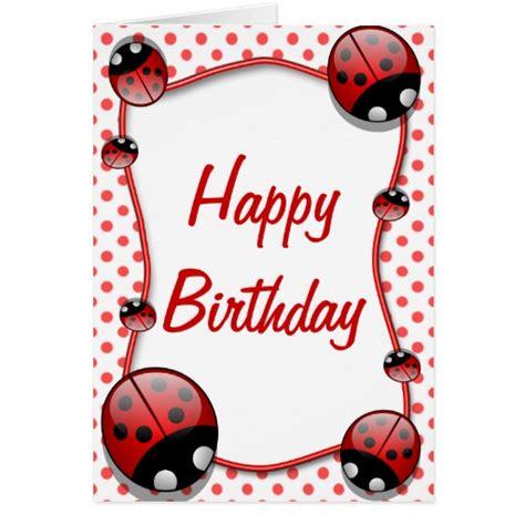free printable birthday cards ladybugs ladybug happy birthday card zazzle