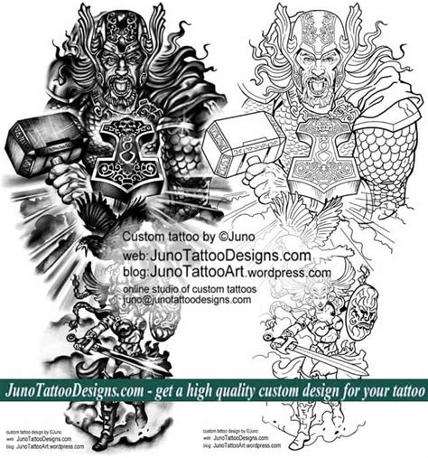 tattoo template creator thor norse mythology tattoo template by juno tattoo