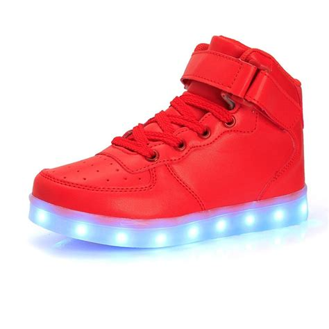 free light up shoes boy and high top led sneakers light up