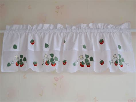 strawberry kitchen curtains fresa bordado terminado cortina de tela de algod 243 n cabeza