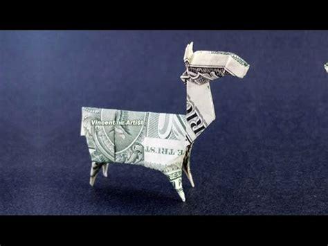 origami 5 dollar bill money origami llama dollar bill