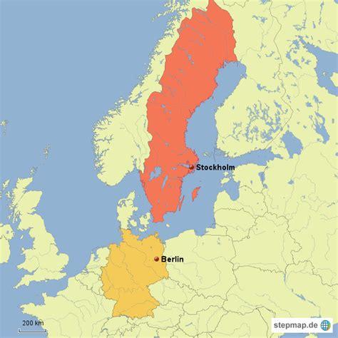 schweden deutschland augustviel landkarte f 252 r