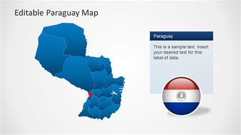 editable paraguay map template for powerpoint slidemodel