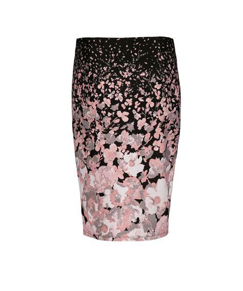 floral print pencil skirt rickis