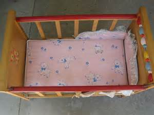 Baby Doll Cribs And Beds 1950s Baby Doll Bed Crib With Wheels Made By Bros Co 1950s Doll Cribs