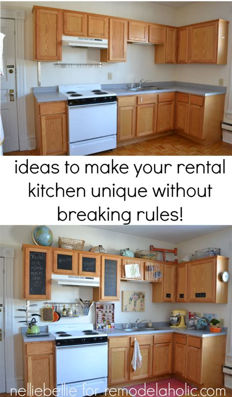 How To Decorate A Rental Kitchen by Remodelaholic How To Bring Personality To Your Rental Kitchen
