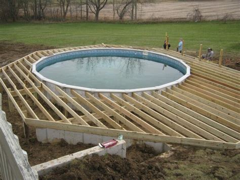Deck Design Ideas For Above Ground Pools by Deck Framing The Pool Deck Framing And Decks