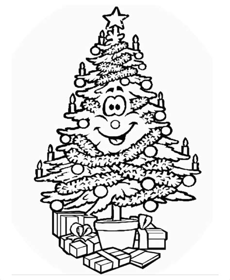 21 Christmas Coloring Pages Free Pdf Vector Eps Jpeg Tree Coloring Pages Pdf