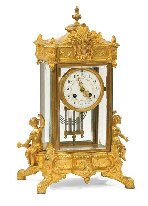 orologi antichi da tavolo orologio da tavolo in bronzo dorato e cristallo francia