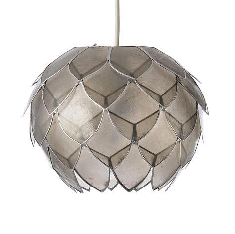 colours elvira capiz grey artichoke lamp shade dmm