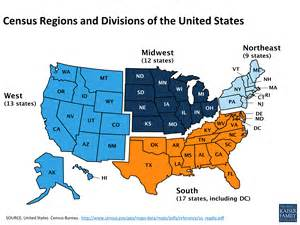 us map broken into regions health coverage and care in the south a chartbook the