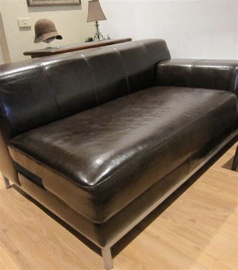 leather sofa panel replacement leather slipcover by comfort works ikea kramfors