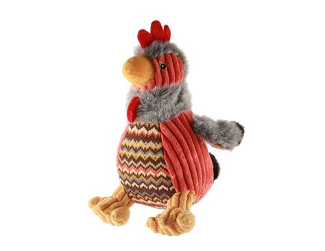 indestructible squeaky toys hugglehounds plush durable squeaky rocky the rooster large whitedogbone