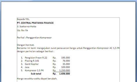 contoh surat penawaran ac primaya co id