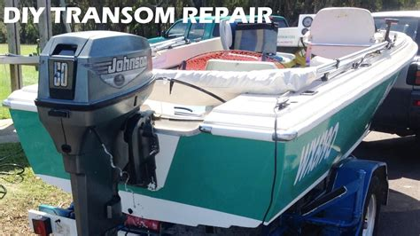 boat motor repair tools boat transom repair made easy diy youtube