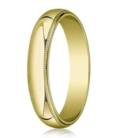 14k yellow gold wedding ring 5 mm traditional fit milgrain