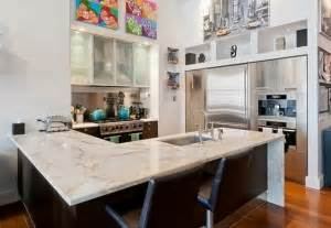 Kitchen Island Design Tips Modern Kitchen Marble Countertop And Two Bar Chair Dweef