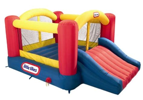 little tikes house bounce house gets swept 50 ft into the air with kids inside