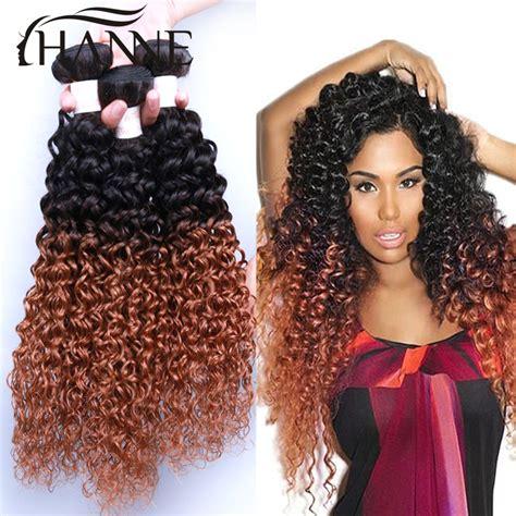 short malysian weave short weave hair malaysian afro kinky curly two tone 1b 27