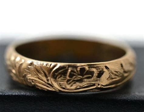 14k gold filled ring renaissance style ring floral