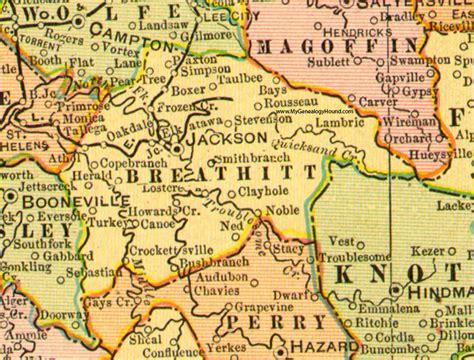 jackson kentucky map breathitt county kentucky 1905 map jackson ky