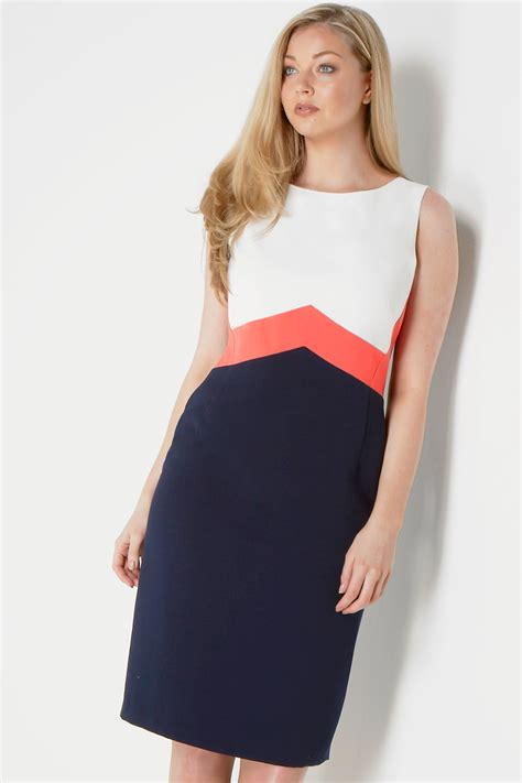 color block dresses colour block shift dress in coral originals uk