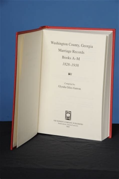 Marriage Records Wa Washington County Marriage Records Books A M 1828 1938 Glynda Giles