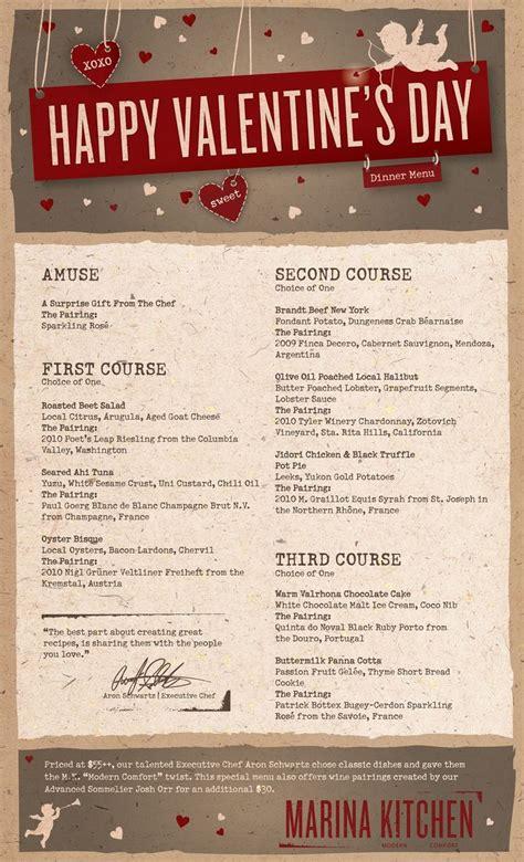 valentines day san diego s day menu at marina kitchen in san diego