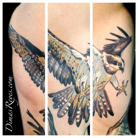 osprey tattoo designs kingdom studio tattoos realistic color osprey